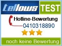 tellows Bewertung 0410318890