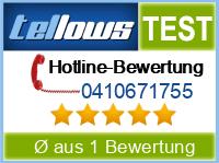 tellows Bewertung 0410671755