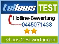 tellows Bewertung 0445071438