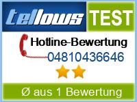 tellows Bewertung 04810436646