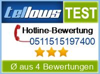 tellows Bewertung 0511515197400
