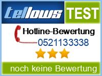 tellows Bewertung 0521133338