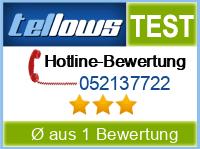 tellows Bewertung 052137722