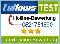 tellows Bewertung 0521751890