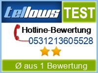 tellows Bewertung 0531213605528