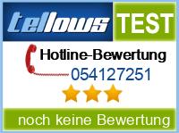 tellows Bewertung 054127251