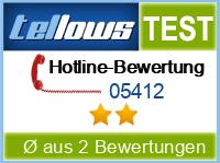 tellows Bewertung 05412