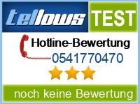 tellows Bewertung 0541770470