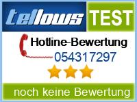 tellows Bewertung 054317297