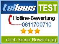 tellows Bewertung 0611700710