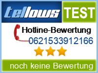 tellows Bewertung 0621533912166