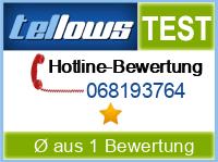 tellows Bewertung 068193764