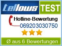 tellows Bewertung 069203030750
