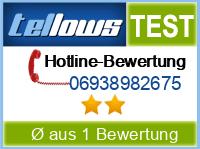 tellows Bewertung 06938982675