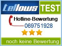 tellows Bewertung 069751928