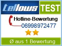 tellows Bewertung 06998972477
