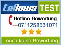 tellows Bewertung 0711258531071