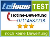 tellows Bewertung 07114587218