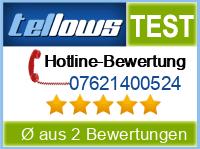 tellows Bewertung 07621400524