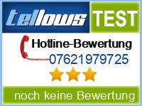 tellows Bewertung 07621979725