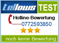 tellows Bewertung 0772593850