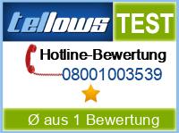 tellows Bewertung 08001003539