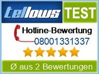 tellows Bewertung 08001331337