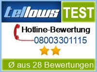 tellows Bewertung 08003301115