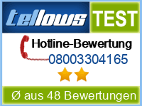 tellows Bewertung 08003304165