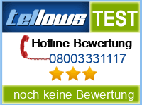 tellows Bewertung 08003331117