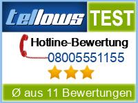 tellows Bewertung 08005551155