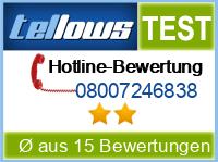 tellows Bewertung 08007246838