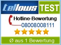 tellows Bewertung 08008008111