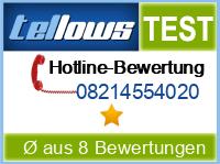 tellows Bewertung 08214554020