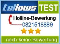 tellows Bewertung 0821518889