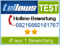 tellows Bewertung 08216660161767