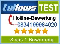 tellows Bewertung 0834199964020