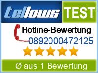 tellows Bewertung 0892000472125