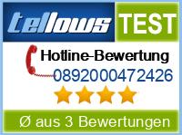 tellows Bewertung 0892000472426
