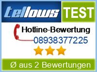 tellows Bewertung 08938377225