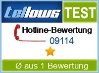 tellows Bewertung 09114