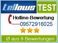 tellows Bewertung 09572916025
